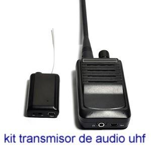 Micrófono Espía UHF kit