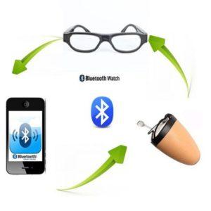Gafas de comunicación espía con micro audífono