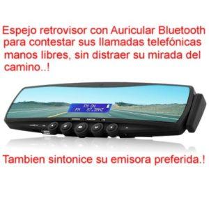 Espejo retrovisor /radio Bluetooth/ repetidor teléfono Bluetooth/ manos libres Modelo. EL-957-N1